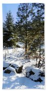 A Touch Of Snow Beach Towel