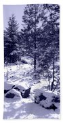 A Touch Of Snow In Lavender Beach Towel
