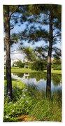 A Tranquil Pond At Walt Disney World Beach Towel