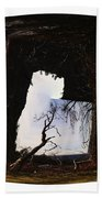 A Tree In A Square Abstract Beach Towel