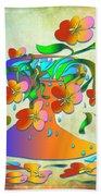 A Vase Of Flowers Beach Towel
