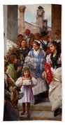 A Venetian Christening Party, 1896 Beach Towel by Henry Woods
