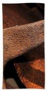 A Very Rusty Steering Wheel Beach Towel