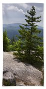 A View From A Mountain In A Vermont State Park Beach Sheet