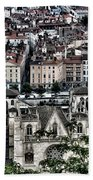 A View Of Vienne France Beach Towel