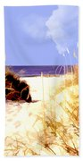 A View Through The Dunes To The Ocean Beach Towel