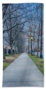A Walk On A Sidewalk Street Alley Beach Towel