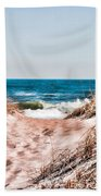 A Walk Out To The Water Beach Towel