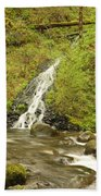A Waterfall Into Oneida Creek Beach Towel