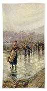 A Wet Day In Whitby Wc On Paper Beach Towel
