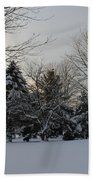 A White Winter's Morning Beach Towel