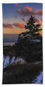 A Winter Dusk At West Quoddy Beach Towel