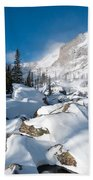 A Winter Morning In The Mountains Beach Towel by Cascade Colors