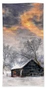 A Winter Sky Paint Version Beach Towel