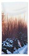 A Winter Wonderland Walk Beach Towel