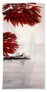 A Wolf's Cry To The Moon Beach Towel