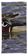 A Wood Duck Pair  Beach Towel