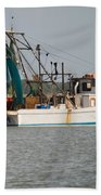 Seadrift Texas Working Boat Beach Towel