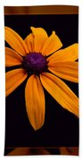 A Yellow Burst Of Sunshine Floral Photography Beach Towel