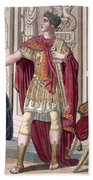 A Young Emperor In His Imperial Armour Beach Towel