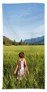 A Young Girl, Daughter Of A Farmer Beach Towel