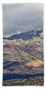 A1 Highway Croatia Velebit Mountain Road Beach Towel