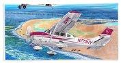 Cessna 206 And A1a Husky Beach Towel