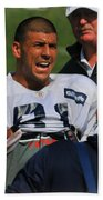 Aaron Hernandez With Patriots Coaches Beach Towel
