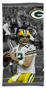 Aaron Rodgers Packers Beach Towel
