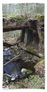 Abandoned Boston And Maine Railroad Timber Bridge - New Hampshire Usa Beach Towel