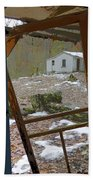 Abandoned Cabin Elkmont Smoky Mountains - Screened Door Old House Beach Towel