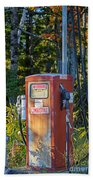 Abandoned Gas Pump Beach Towel