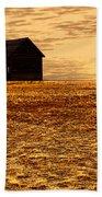 Abandoned Homestead Series Golden Sunset Beach Towel