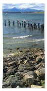 Abandoned Old Pier In Puerto Natales Chile Beach Towel