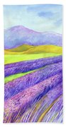 Abbey Fields At Senanque Beach Towel