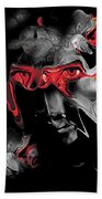 About Face Abstract Portrait Beach Towel