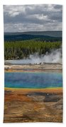 Above Grand Prismatic Beach Towel