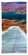 Above Lake Mead By Diana Sainz Beach Towel
