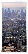Above New York Beach Towel