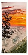 Above The Clouds - Paint Beach Towel