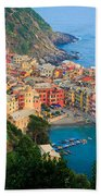 Above Vernazza Beach Towel by Inge Johnsson