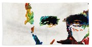 Abraham Lincoln Art - Colorful Abe - By Sharon Cummings Beach Sheet