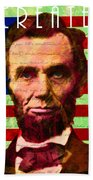 Abraham Lincoln Gettysburg Address All Men Are Created Equal 20140211p68 Beach Towel