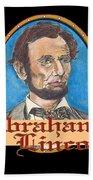 Abraham Lincoln Graphic Beach Towel by John Keaton
