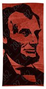Abraham Lincoln License Plate Art Beach Towel