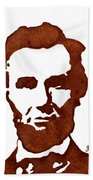 Abraham Lincoln Original Coffee Painting Beach Towel