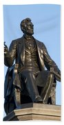 Abraham Lincoln Statue Philadelphia Beach Towel