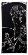 Absinthe Drinker After Picasso Beach Towel