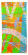 Abstract  23614   Diptych  I  Beach Towel