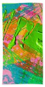 Abstract 6814 Diptych Cropped Xvi  Beach Towel